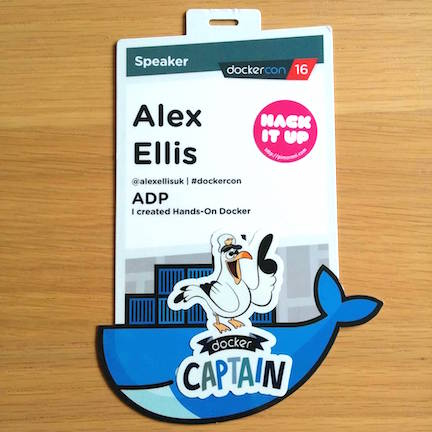 Alex Ellis, Docker Captain, Senior Software Developer @ ADP